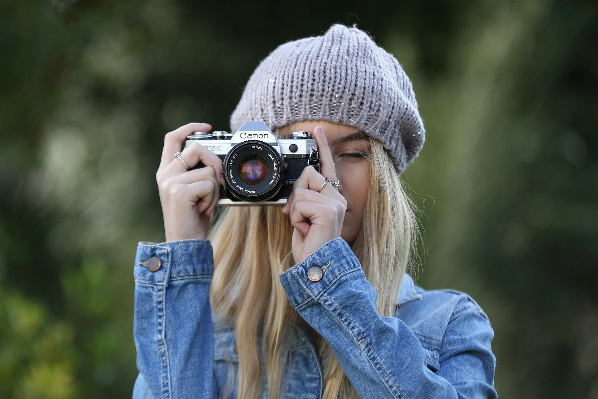 Lottie Portrait with Canon Camera