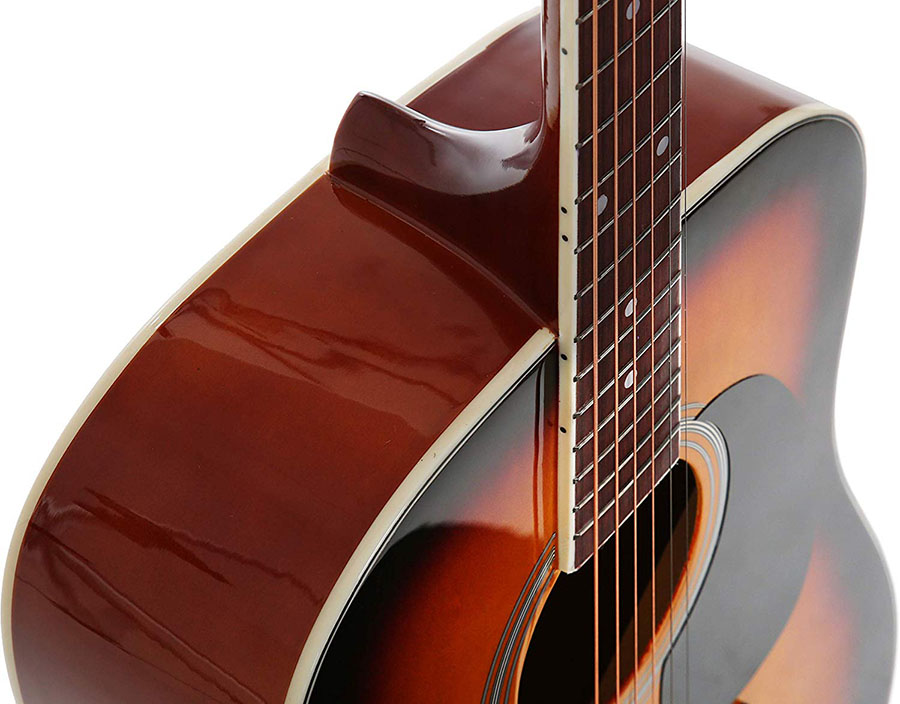 Dreadnought Full Sized Steel String Acoustic Guitar Sunburst