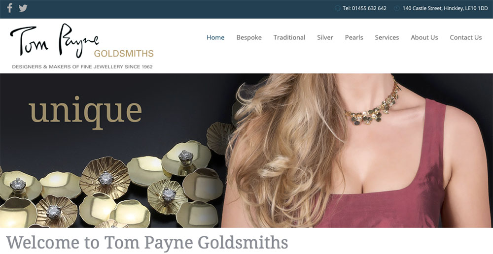 Tom Payne Goldsmiths Website